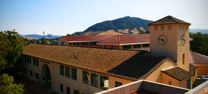 Cal Poly Cotchett Education building and clock tower