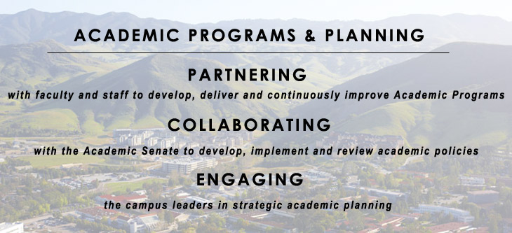 Academic Programs and Planning Mission