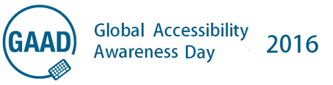 2016 Global Accessibility Awareness Day logo