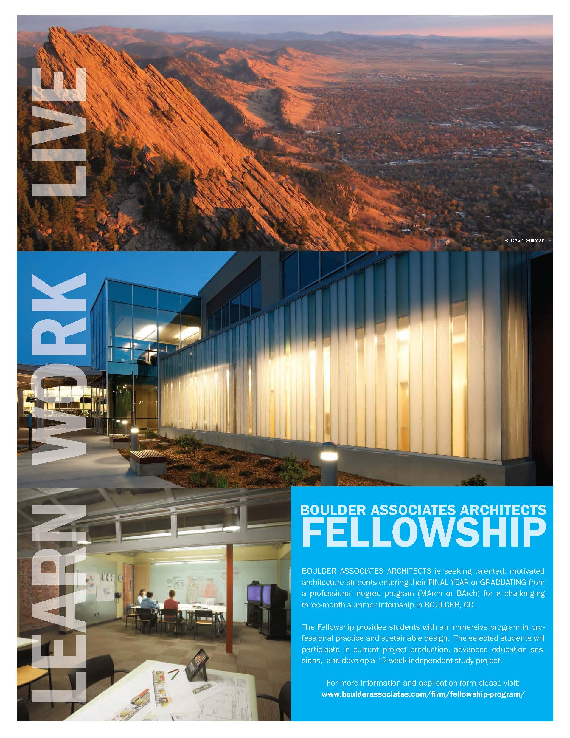 2015 Boulder Associates Architects Fellowship