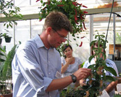 Professor Ritter in Cal Poly Plant Conservatory