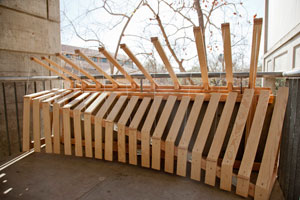 image of wooden structure resembling a xylophone