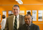 President Armstrong and Professor Omar Faruque