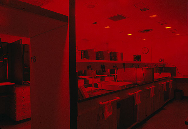 View of the darkroom