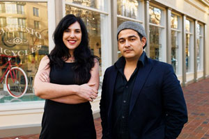Image of Alfonso Dominguez with PopUpHood co-founder Sarah Filley