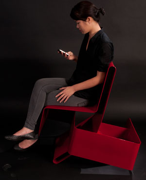 Grace Choy Furniture Piece, red chair