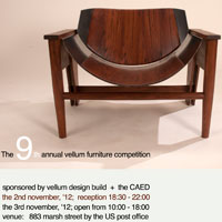 Photo of wooden chair, 9th Annual Vellum Furniture Competition