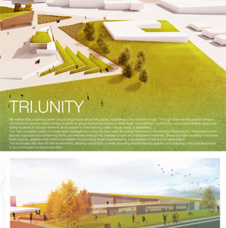 Cover of Tri.Unity project, a grassy public space