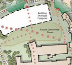 Diagram of campus area being planned for the new Science and Mathematics building