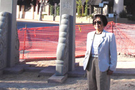 Photo of Alice Loh at the park construction site