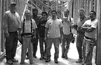 Photo of faculty and students at construction site