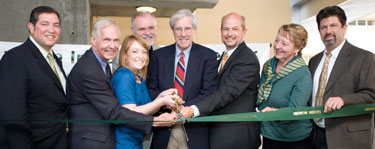 Photo of ribbon cutting participants