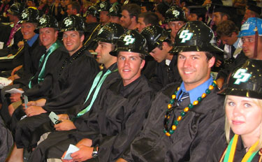 Photo of some of the CAED graduates at the 2008 cememony