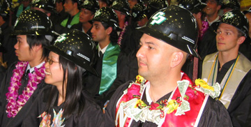 Image of students at CAED graduation ceremonies