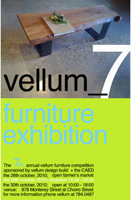 7th annual vellum furniture competition ad image