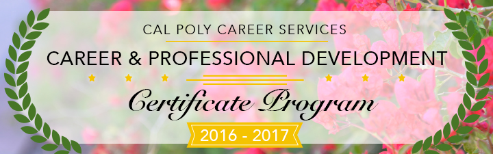 Career and Professional Development Certificate Header