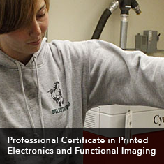 Professional Certificate Printed Electronics and Functional Imaging