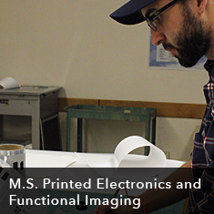 M.S. Printed Electronics and Functional Imaging
