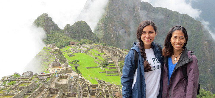 Alejandra Camacho and Aurora Chavez at Machu Pichu, in Peru