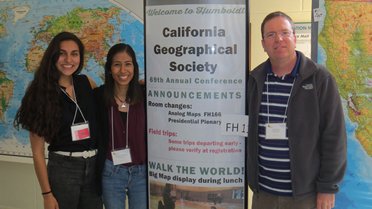 Camacho and Chavez at the California Geographical Society conference