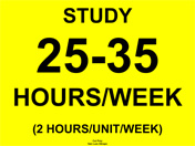 25-35 hours/week of study time