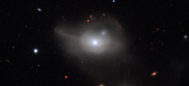 Image of galaxy with a supermassive black hole at its core