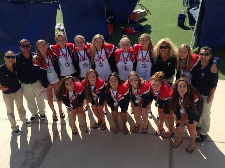 USA Women's Youth National Water Polo team and coaches