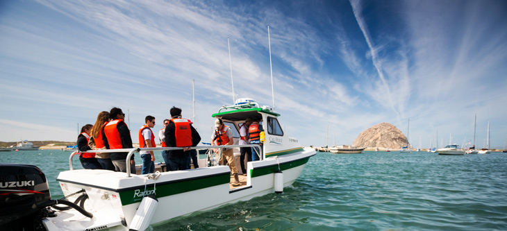 Cal Poly's new research boat in Morro Bay