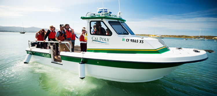 Cal Poly's new research boat.