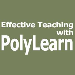 Effective Teaching with PolyLearn