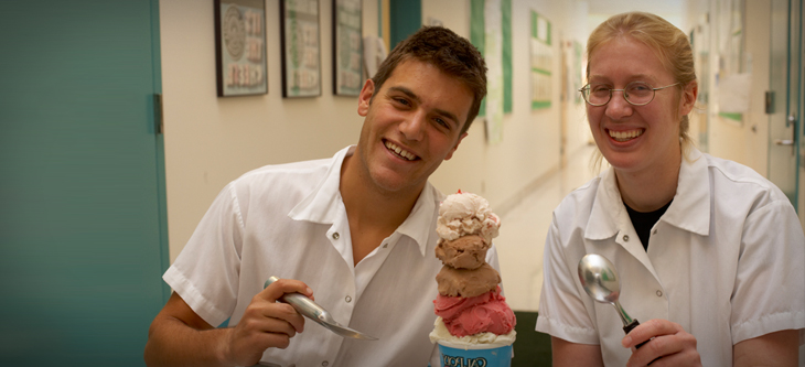 students with ice cream