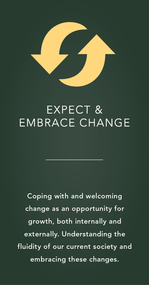 Expect and embrace change icon