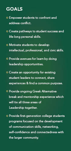 Goals for the Center for Leadership & Service