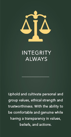 Integrity always icon
