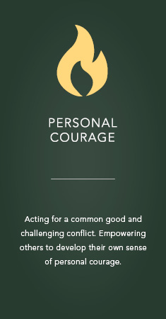 Personal courage icon
