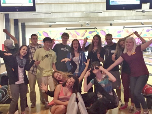 DRC students at a bowling and pizza party!