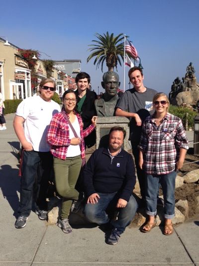 Emily Anderson, with classmates, on a fieldtrip to Cannery Row
