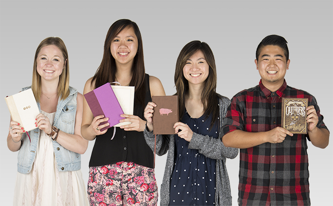 GRC Students with book cover designs