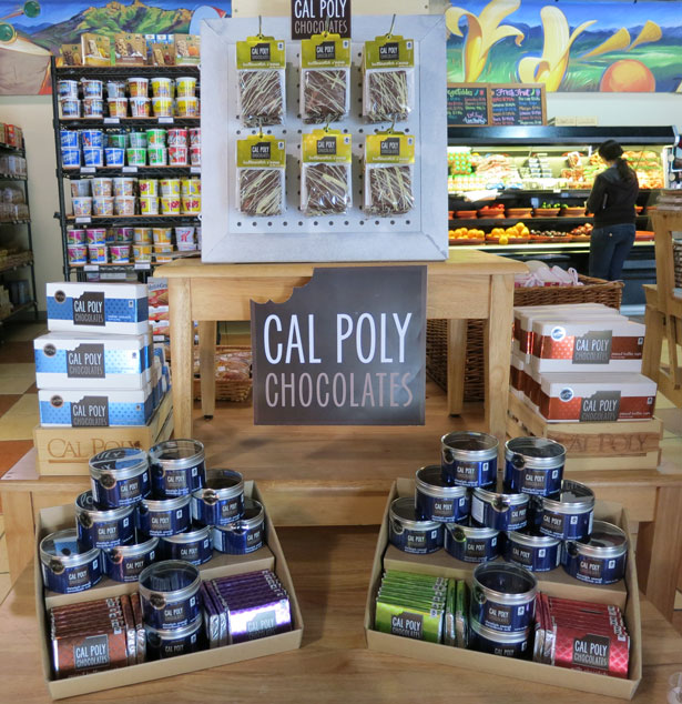Cal Poly food products display