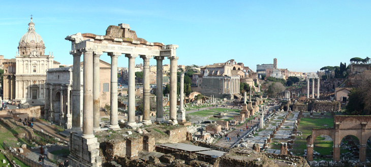 The Forum, in Rome.