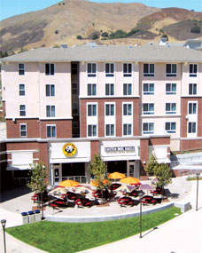 Poly Canyon Village buildings and plaza