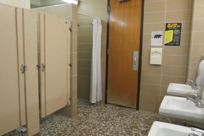 Full bathroom with stalls