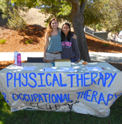 Students at the Physical Therapy club booth