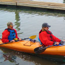 Photo of community members kayaking