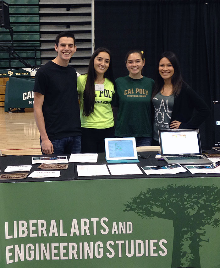 LAES Club Booth at Cal Poly Open House 2015