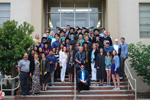 Group photo of LA grads, faculty, staff, and supporters