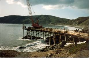 Rebuilding starts on new Unocal Pier