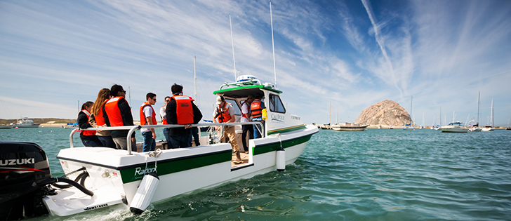 People on a boat in Morro Bay, California