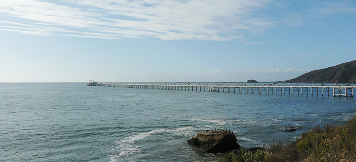 Image of the Cal Poly Pier from a distance