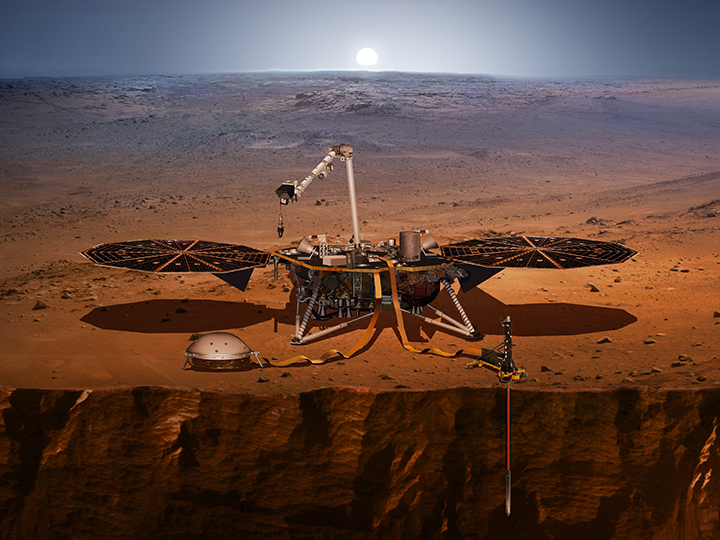 Artist rendering of InSight Mission on Mars